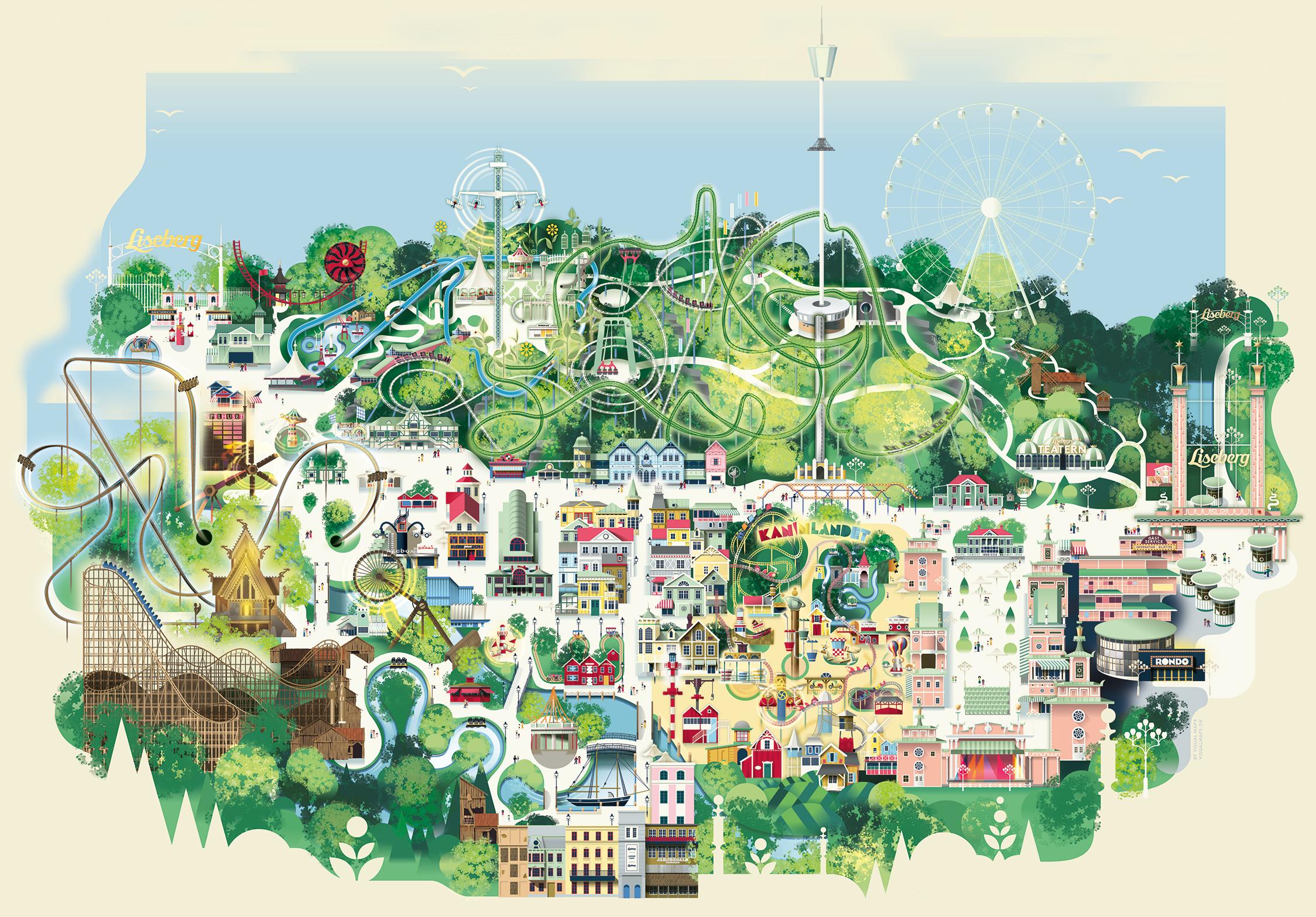 kart danmark attraksjoner Park map | Liseberg kart danmark attraksjoner